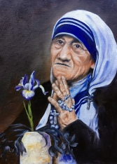 Mother Therese, oil