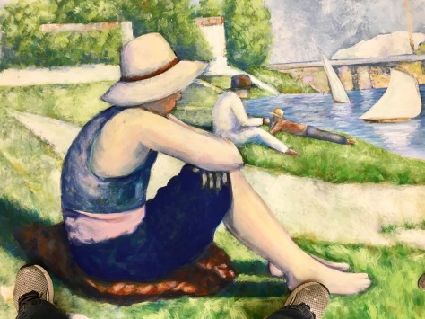 "detail ""The Bathers"" by George Seurat, drop for ""Summer in the Park With George"""